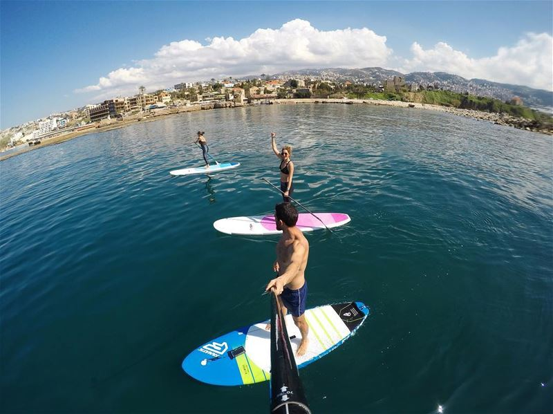Discover Lebanon from the sea! 🗺... sup standup paddle gopro fun ...