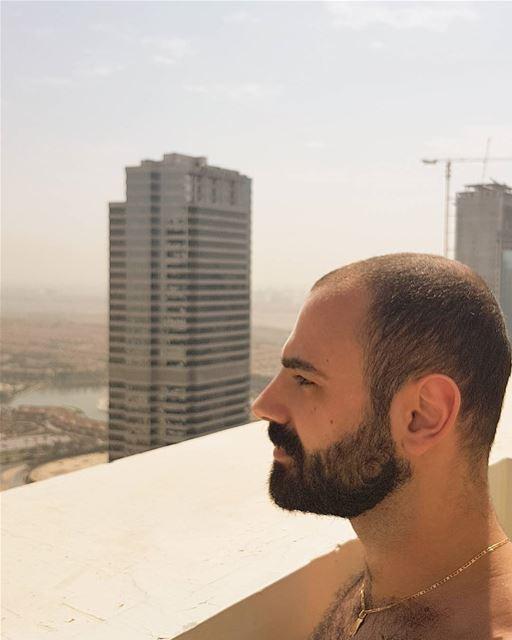 Decided to keep this photo 🤣 Dubai UAE Lebanon Lebanese beard ... (JLT)