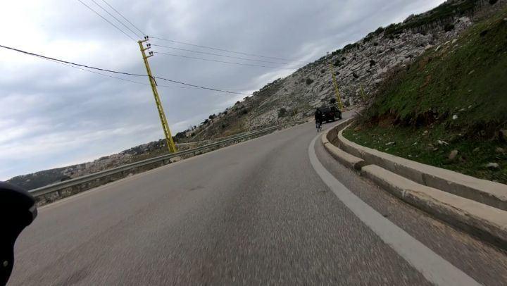 أجمل شي لما تتساقط حبات البرد انت وعم تعمل cycling amazing cyclinglife ... (Lebanon)