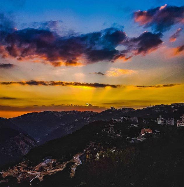 Mountain sunsets sunset sunsetsky sunset_ig ig_sunsetshots amazing ... (Brummana)
