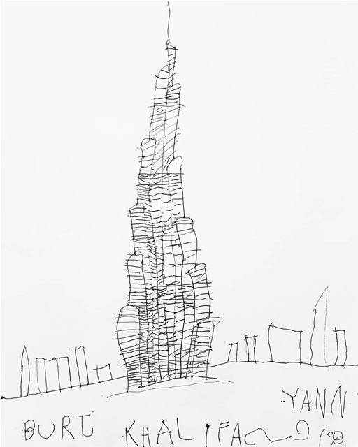 ~ BurjKhalifa by YannGhorayeb / 4-year-old ~... art instaart artsy... (Beirut, Lebanon)