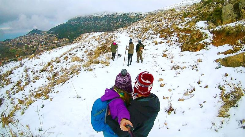 This is what we live for ❄------------------------------------------------ (Ehden, Lebanon)