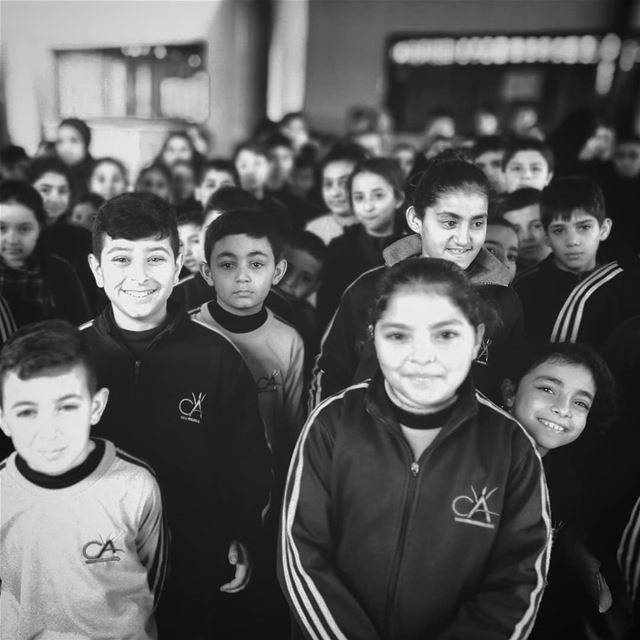 Expressions of school students - ichalhoub in Akkar north Lebanon...