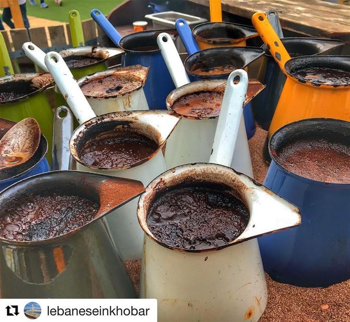Repost @lebaneseinkhobar with @get_repost・・・Lebanese Coffee is being...