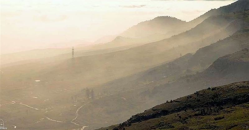 bekaa bekaavalley foggy sunrise landscape takenbywissamalhoury... (Bekaa Valley)