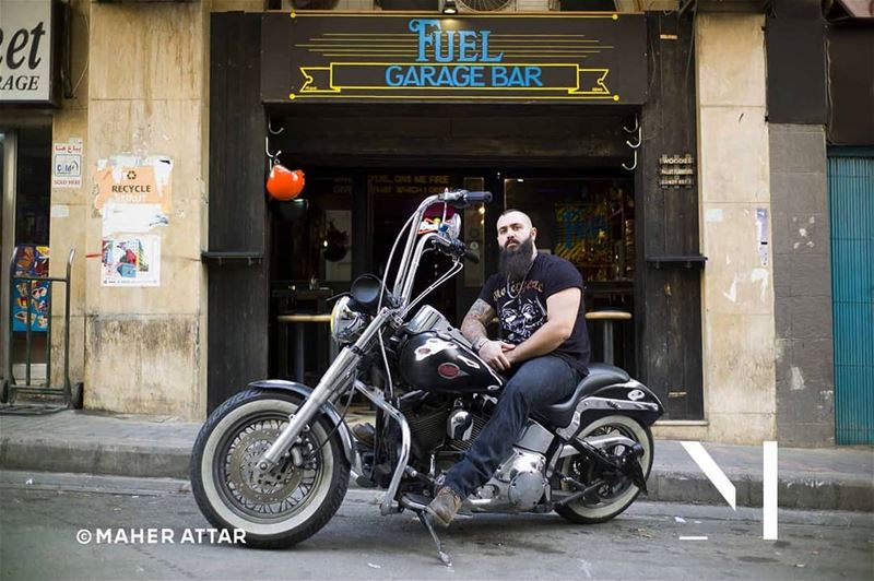"Meet Salam .. A Harley Davidson rider. ""Leave it all behind and just ride."" (Beirut, Lebanon)"