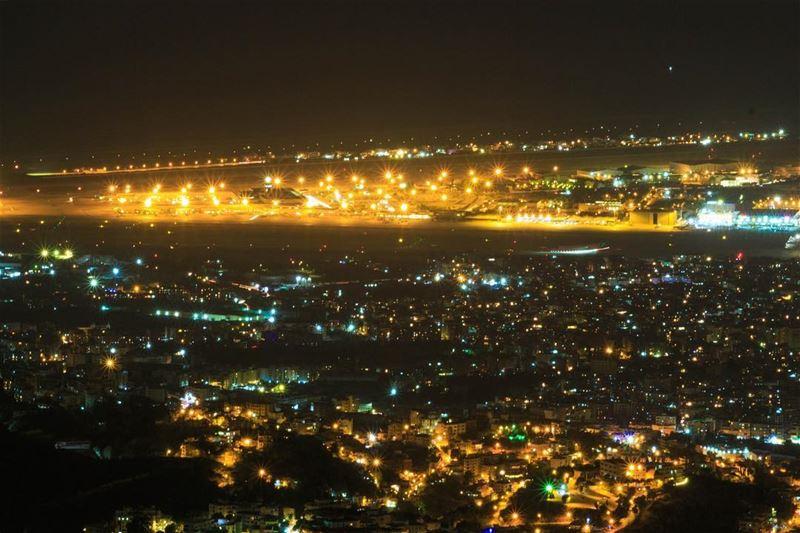 City lights .... Beirut Lights city night photography longexposure... (`Alayh, Mont-Liban, Lebanon)