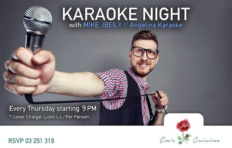 This Thursday and every Thursday is KARAOKE NIGHT at Em's with Mike Jbeily... (Em's cuisine)