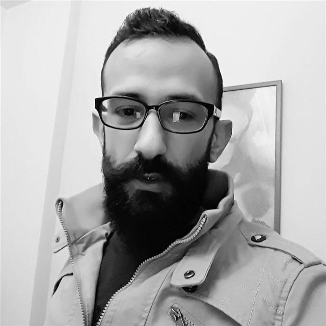 me profile moustache pogonophile bnw blackandehite face selfie ... (Sinn Al Fil, Mont-Liban, Lebanon)