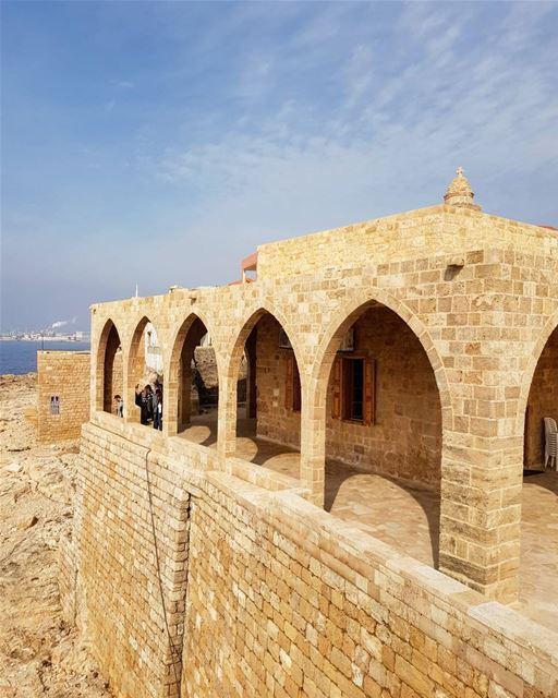 Transformation of ruins⏳... church lebanon batroun igers instagood... (Saydet El Baher-Batroun)
