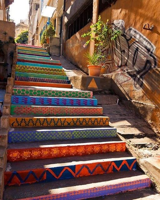 Failures are the stairs we climb to reach success........... (Beirut, Lebanon)