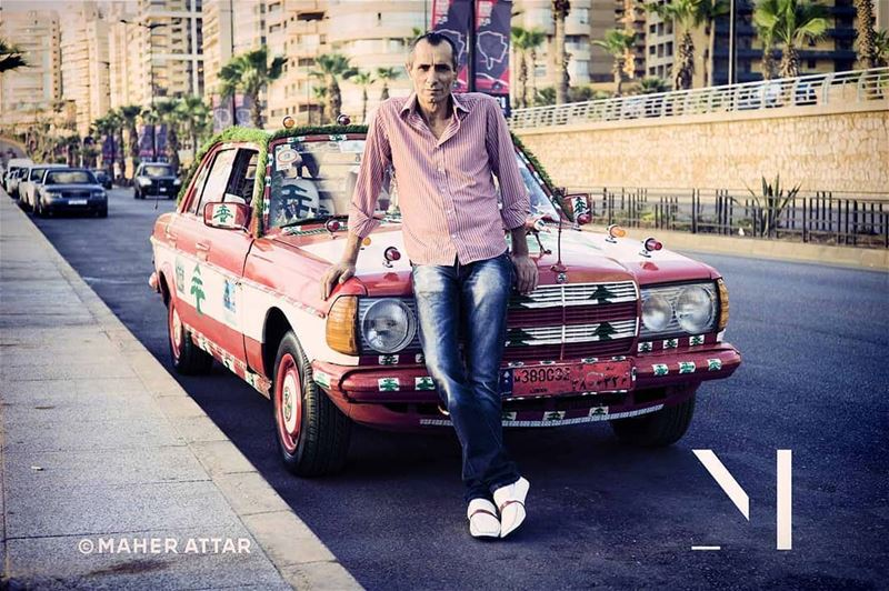"Meet Akram .. A taxi driver. ""I love my job! I am my own boss and nobody... (Beirut, Lebanon)"