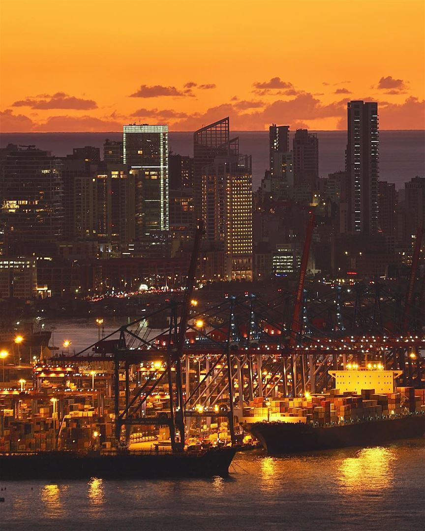 Long day at the port.By @mikeroscopik BeirutPort PortOfBeirut Beirut ... (Port of Beirut)