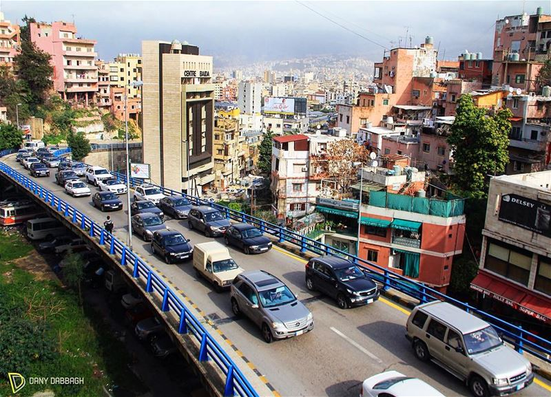 Bumps in the heart feel the bridge to the bustle city of Beirut. beirut ... (Beirut, Lebanon)