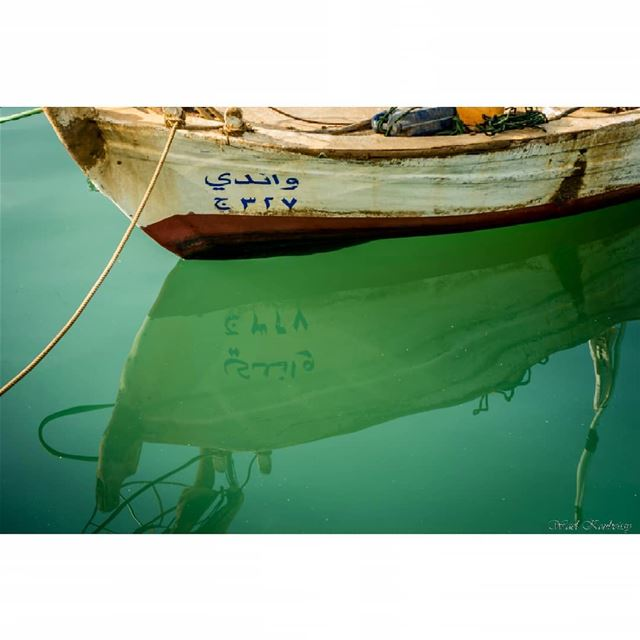 water reflection boat sea blue boats rope lebanon harbor jounieh...