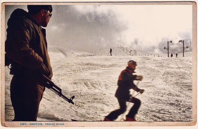 Good morning Beirut. Ski in Faraya kfardebian 1987 from the serie ...