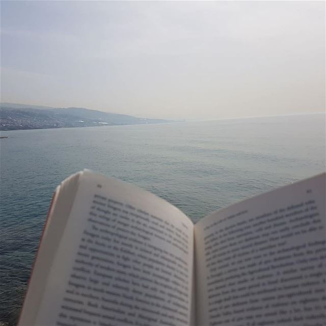 reading is dreaming with open eyes instabook bookstore sea pages mood... (Lebanon)