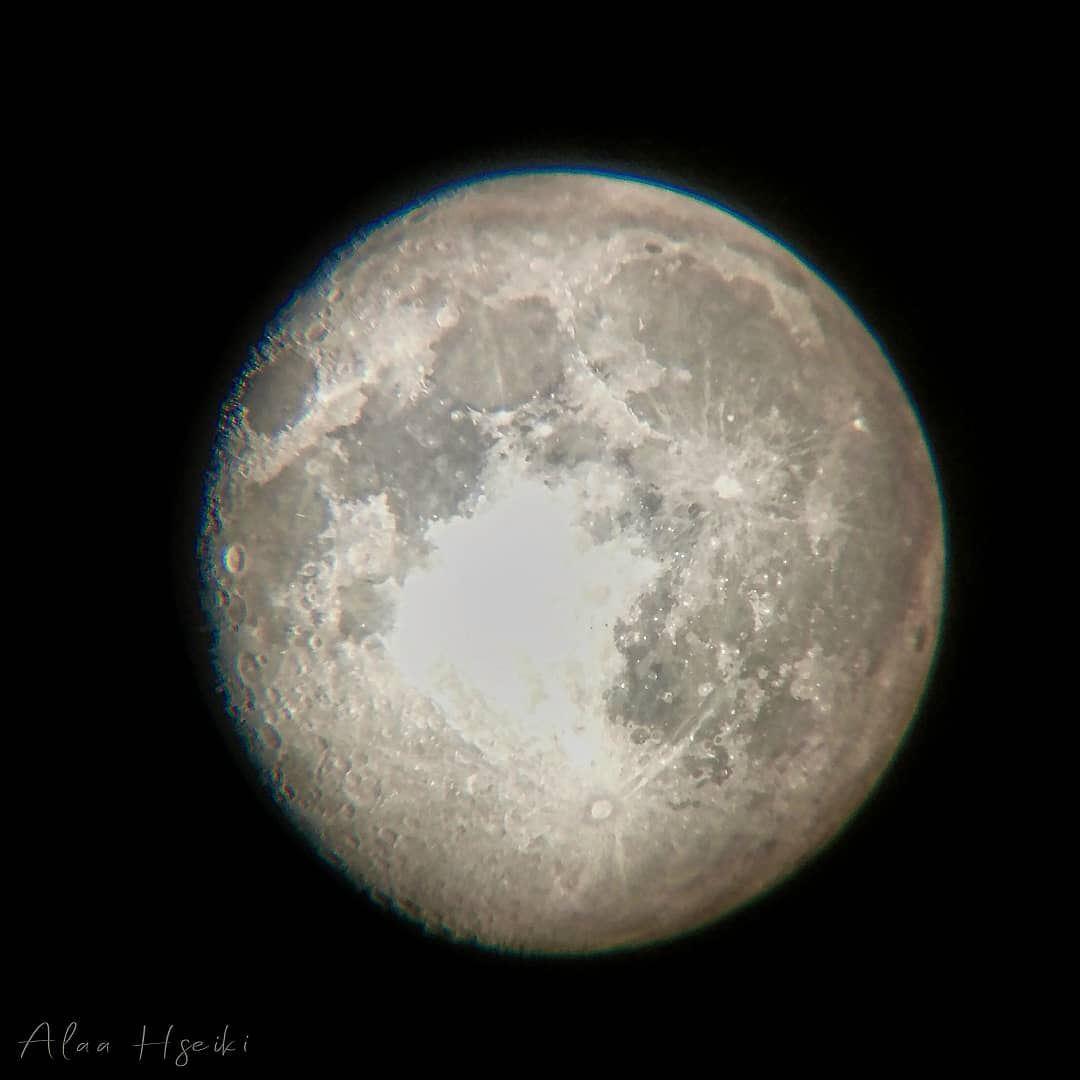 ¶ He Left The Nightlight On 🌝... Hseiki Lebanon supermoon moon ... (Baïssoûr, Mont-Liban, Lebanon)