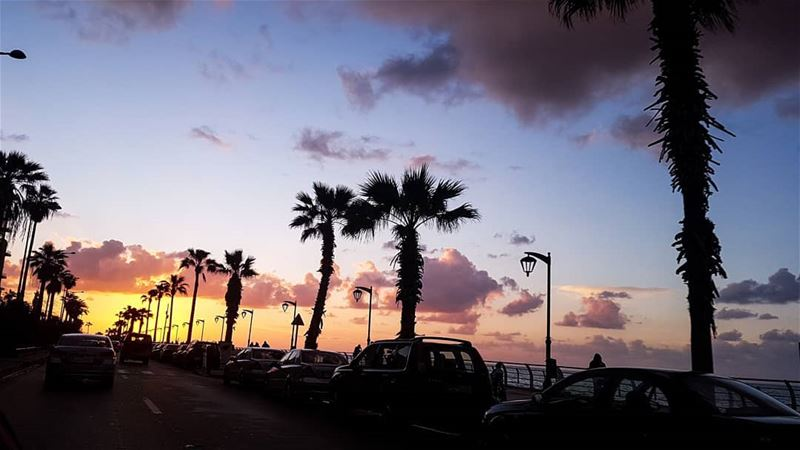 //Sunsets are proof that endings can be beautiful too.// livelovelebanon... (Beirut, Lebanon)