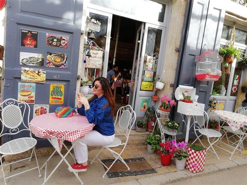 Un café à Douma ☕️🌈💕. MyCityBeirut LiveLoveDouma LiveLoveLebanon ... (Douma, Liban-Nord, Lebanon)