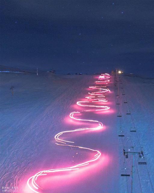 Sweet Snowy Dreams ☄️❄️... mzaar kfardebian lebanon dji drones ... (Mzaar Ski Resort Kfardebian)