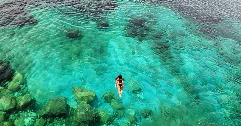 The Ultimate Swim CristalClearWater Sea RasElBayada Nakoura Aljanoub... (Bayadah, Al Janub, Lebanon)