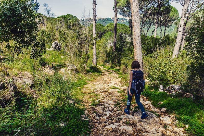 One step at a time welivetoexplore awesomeearth exploretocreate ... (El Qsaïbé, Mont-Liban, Lebanon)
