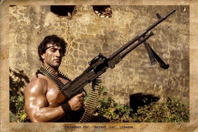 Good morning Beirut. Beirut 1987. Rambo rambolookalike ...
