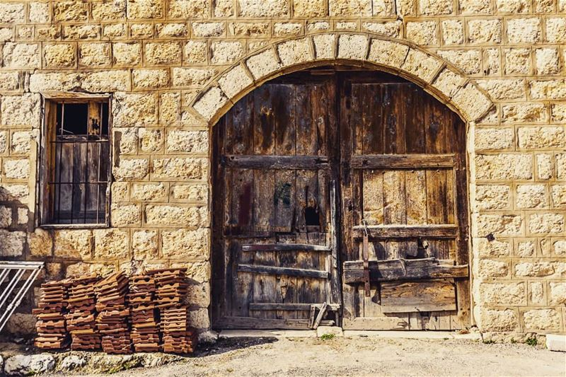 Not nature, but I have a thing for stone architecture and wooden doors.... (Ra'S Al Matn, Mont-Liban, Lebanon)