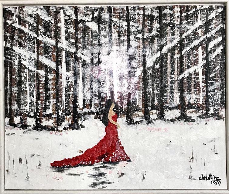 "Title: ""Lost in Nature ""Cotton Art Panel white Frame When the idea..."