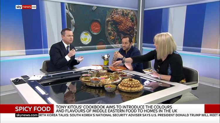 Had an amazing day @SkyNews sharing the love of Lebanese food & culture. ... (Sky Sports News Studio)