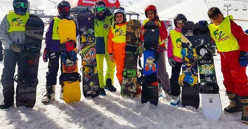 Snowboard team groupe Z groupez skischool mzaar lebanon sportsexperts... (Mzaar)