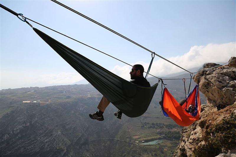 Life is Better in a Hammock 😎😉... hammock moutainside chill *thanks (Zahlé, Lebanon)