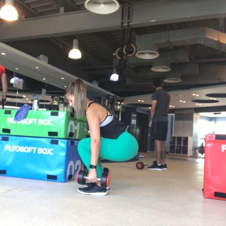 My legworkout a few days ago, I feel a lot better on the days I train ,... (Dubai, United Arab Emirates)
