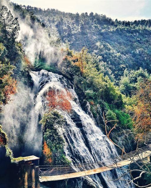 Waterfall and Chill! ...... beautifuldestinations places_wow ... (Ouyoun El Samak Waterfalls)