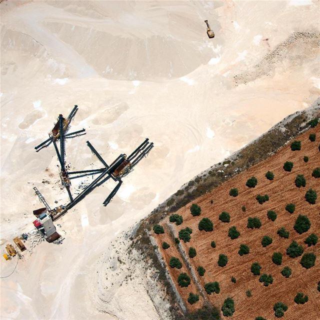 Loosing ground mining landscape landscapephotography aerial ... (Marjayoûn, Al Janub, Lebanon)