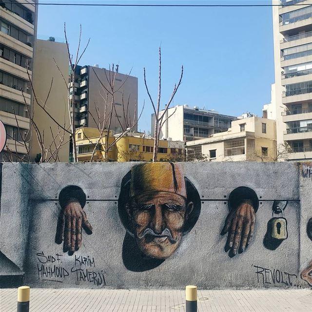 Revolt... streetart graffiti streetphotography beirut beirutcorners ... (Beirut, Lebanon)