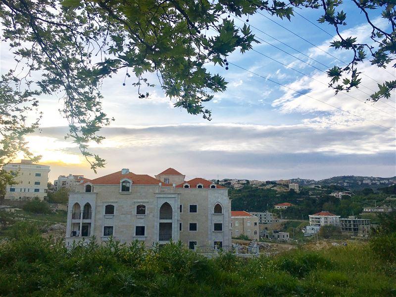 ثمة صباحات تخلق فيك تمرّد نيسان 🌿🌻 Sunrise Aley April morning ... (Aley)