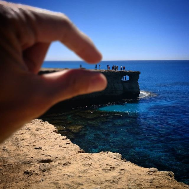 El mundo azul - ichalhoub in Cyprus shooting with a mobile phone....... (Cape Gkreko, Agia Napa, Cyprus)