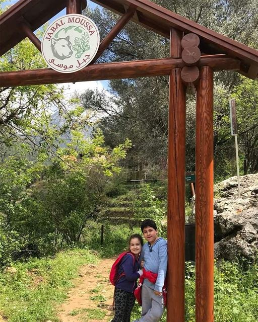 Enjoying their Easter Holiday in JabalMoussa!Aren't they just adorable :