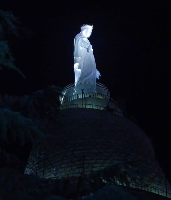 Our Lady of Lebanon 🙏 lebanon lebanese livelovebeirut Beirut mary ... (Harîssa, Mont-Liban, Lebanon)