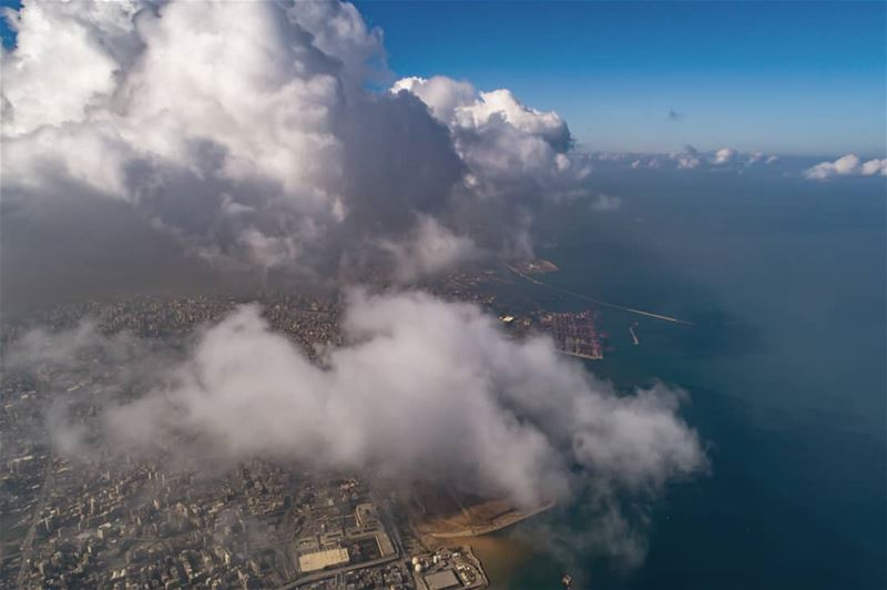 Cloud invasion .... AboveLebanon Lebanon LiveLoveBeirut ...