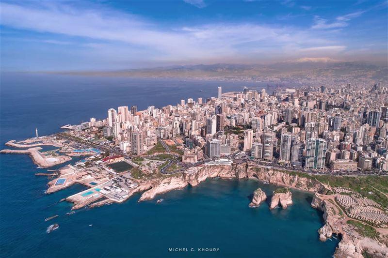 يا أم الدنيا يا بيروت ❤.... AboveLebanon Lebanon LiveLoveBeirut ... (Beirut, Lebanon)