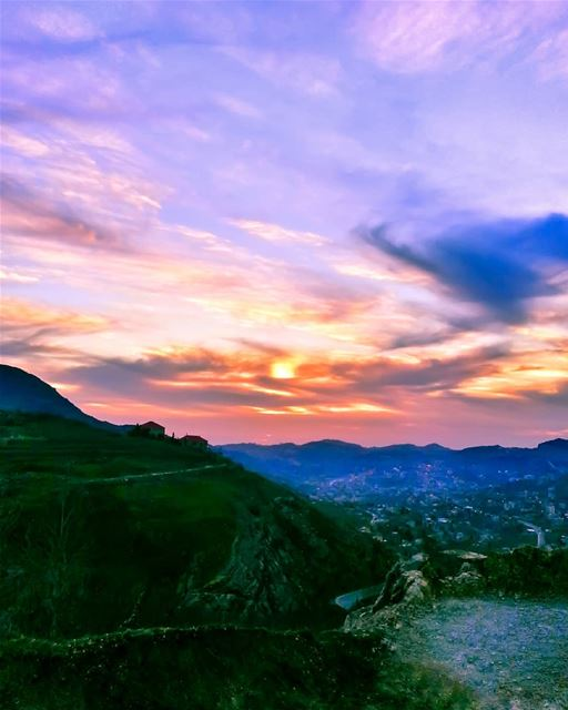 Yesterday, I went all the way up high above the city to shoot the sunset &...