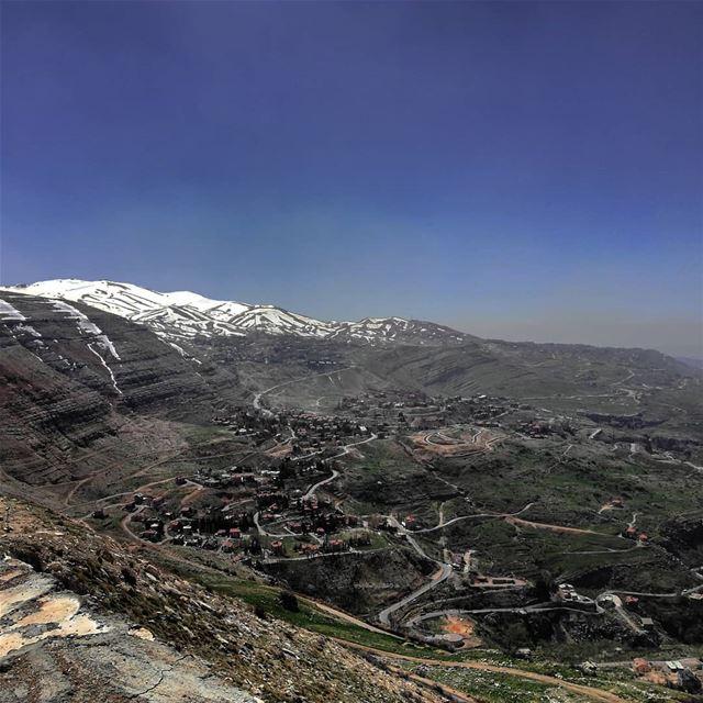 Hello spring 2018 livelovebeirut livelovelebanon lebanon_pictures ... (Jabal El Salib- st Charbel Statue)