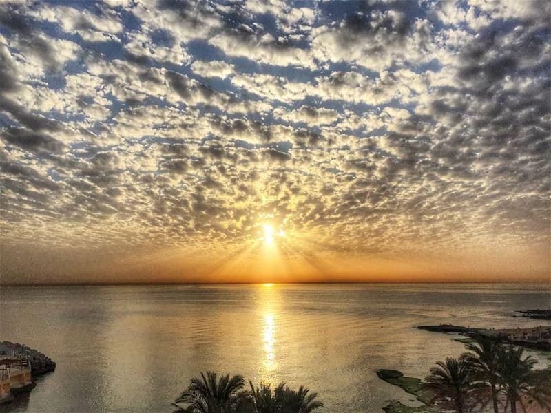 The power of gold gold color sunset ig_sunset ptk_sky livelovebeirut... (Mövenpick Hotel & Resort Beirut)