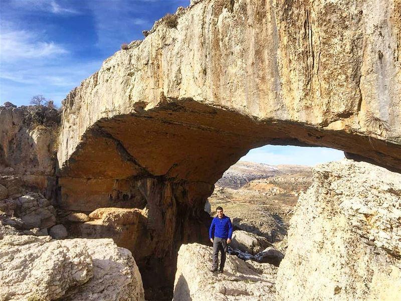 ⛰️ faqra natural bridge lebanon lebanonlovers ... (Faqra)