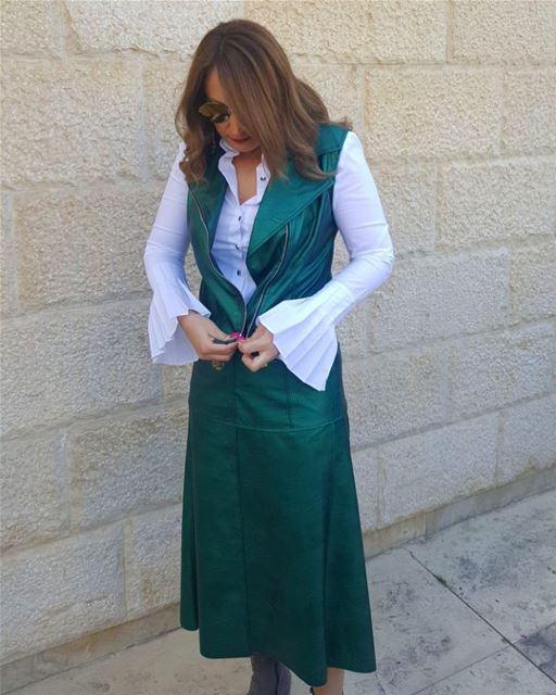 New SS18 collection looks wonderful on @marietta_haddad 🌿DailySketchLook... (Er Râbié, Mont-Liban, Lebanon)
