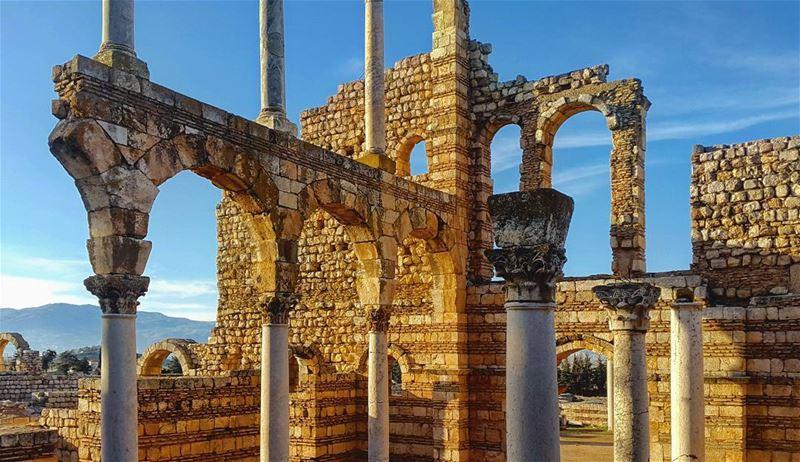Survivor...... anjar ruins architecture landscape Lebanon ... (`Anjar, Béqaa, Lebanon)