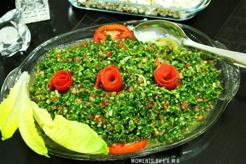 YUMMY!!!!!👅 tabouleh lebanesefood LAMA_YOUSSEF ... (Bakhoun, Liban-Nord, Lebanon)